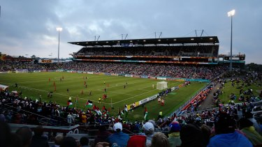 Hunter Stadium, which hosted the Japan v Palestine match earlier in the tournament, is operating at the reduced capacity of 23,000 for the Asian Cup