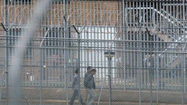 The razor wire surrounding the Villawood Detention Centre.