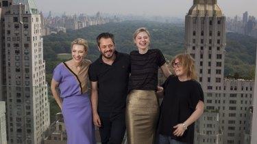 Cate Blanchett (left), Benedict Andrews, Elizabeth Debicki and Alice Babidge worked on <i>The Maids</i>.