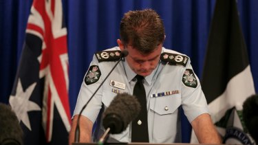 AFP Commissioner Andrew Colvin addresses the media/