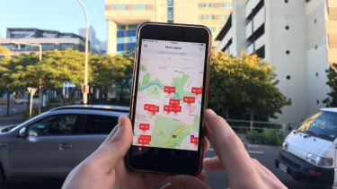 Parking app Kerb may be the solution to some of Brisbane's parking woes.