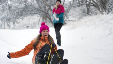 The cold outbreak has resulted in snowfalls at all the state's ski resorts, including Mt Buller