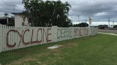 The message to Cyclone Debbie from Bowen, which is 'bring it on'.