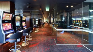 Pokie machines inside Dee Why RSL.