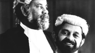 Legal adviser and advocate: Lawyer Kevin Kitchener (right) with Bob Bellear, Australia's first Aboriginal judge.