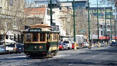 Bendigo trams are a popular tourist attraction.