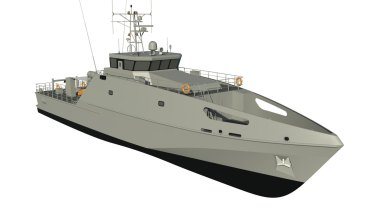 The 40-metre boats will got to 12 Pacific island countries to help regional maritime security.