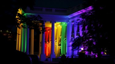 The White House lit up in rainbow colours after the US Supreme Court's historic ruling legalising gay marriage.