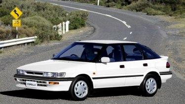 A white Toyota Corolla similar to Mr Galea's.