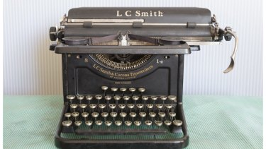 An antique Canadian-made LC Smith typewriter stocked by Mr Koska.