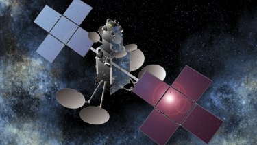 First two satellite's will launch from French Guiana later this year: An artist's impression of an NBN Co satellite.
