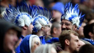 Leicester City fans soak up their team's success.