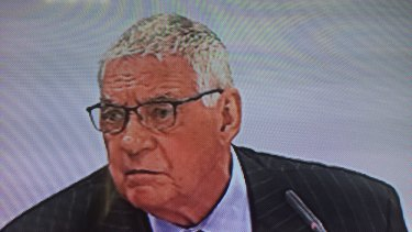 Ted Lockyer while appearing at the unions royal commission on Friday.