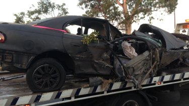 Tom's car after the 2014 accident.