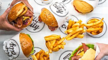 Flip City burgers have been created especially for UberEats.