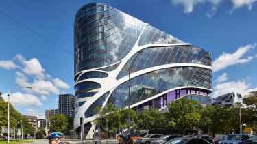 The Victorian Comprehensive Cancer Centre (VCCC) designed by McBride Charles Ryan is a highlight of the  world-class bio-medical precinct.