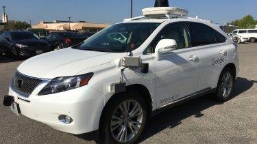 Google's modified Lexus hybrid.