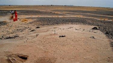 The skeletons were discovered near Lake Turkana in Kenya.