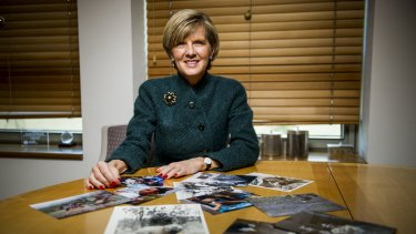 """Minister for Foreign Affairs Julie Bishop talks about the """"Close up"""" exhibition."""