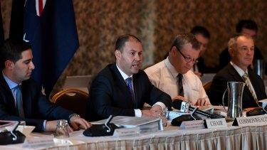 Federal Energy Minister Josh Frydenberg speaks during a COAG Energy Council meeting in Brisbane on Friday.