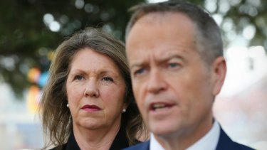 Labor's health spokeswoman Catherine King with Opposition Leader Bill Shorten.