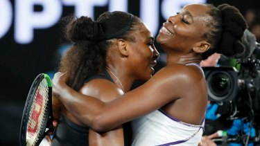 The Williams sisters embrace at the end of the final.