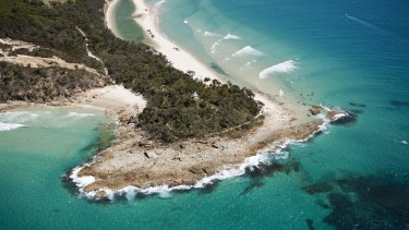 Moreton Island from the air