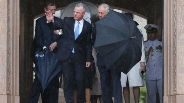 Brendan Nelson with Prince Charles at the Remembrance Day National Ceremony at the Australian War Memorial in Canberra in November 2015