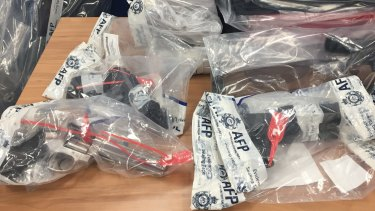 Some of the items seized during Wednesday's raids.