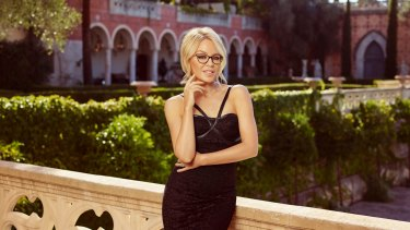 A shot from the campaign for Kylie Minogue Eyewear, which the singer has designed in collaboration with Specsavers.