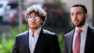 John Ibrahim's son, Daniel Ibrahim, arrives at court