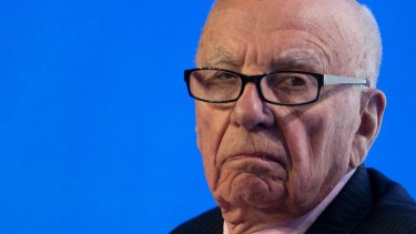 """Rupert Murdoch took to Twitter on Wednesday: """"Tough to write, but if [Tony Abbott] won't replace top aide Peta Credlin she must do her patriotic duty and resign."""""""