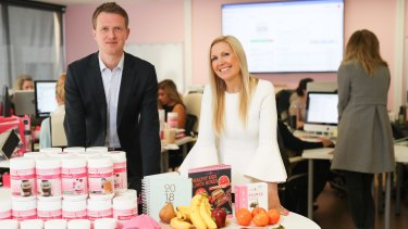 Richard Whiteoak of Whiteoak Capital, one of The Healthy Mummy's investors, with founder Rhian Allen.