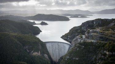 One of Hydro Tasmania's biggest dams, on Lake Gordon.