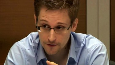 NSA whistleblower Edward Snowden in Moscow in 2013.