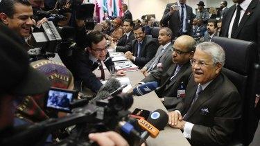 Oil talks: Saudi Arabia's Oil Minister Ali al-Naimi before the OPEC meeting in Vienna.