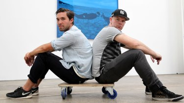 Emerging artist Dean Cross (left) was selected to exhibit in the Redlands Art Prize by Shaun Gladwell.