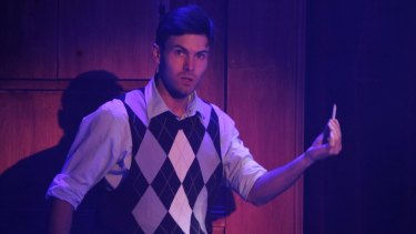 Ben Adams in <I>Reefer Madness: The Musical</I>.