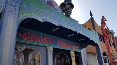 Exterior of the ghost train at Luna Park, St Kilda.
