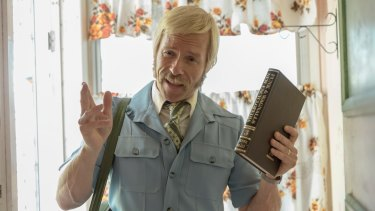 A film still from the new Australian film 'Swinging Safari'. Guy Pearce who plays Keith Hall.