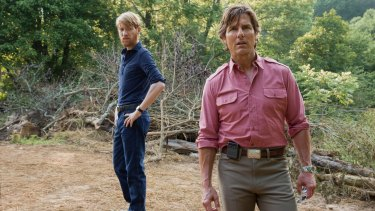 Deft black comedy: Tom Cruise with Domhnall Gleeson (left) in 'American Made'.