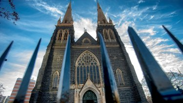 About 150 people attended Mass at St Patrick's Cathedral on Sunday.