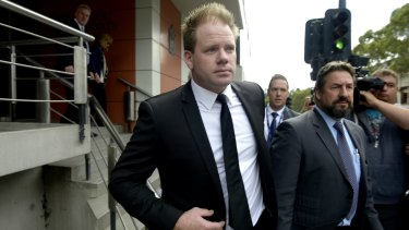 Nick Stevens leaves court in Melbourne in March.