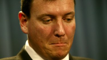 Then NSW opposition leader John Brogden resigns from the leadership in August 2005.