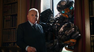 Anthony Hopkins as Sir Edmound Burton, and Hot Rod.