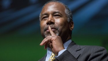 Ben Carson, Republican US presidential candidate.