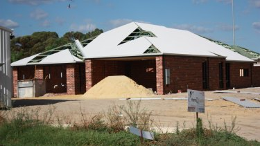 Ben Johnston's dream home, which is still being built, is also situated on the retirement village site.