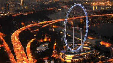 The Singapore Flyer from Marina Bay Sands resort.
