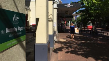 One of New England MP Barnaby Joyce's electorate offices is in Armidale's Beardy Street Mall.