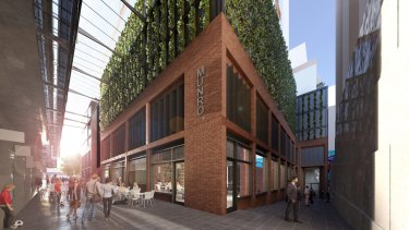 Architectural render for the  Munro project at Queen Victoria Market.